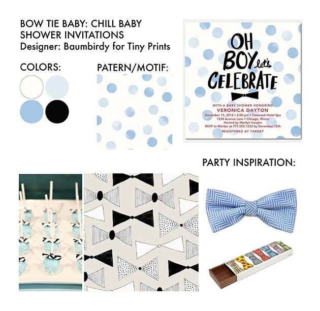 bow tie themed baby shower inspiration hosting proclivity pintere