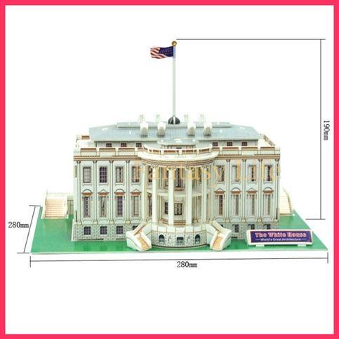 The White House Usa 3d Puzzle Set Calebou 65 Pcs Diy