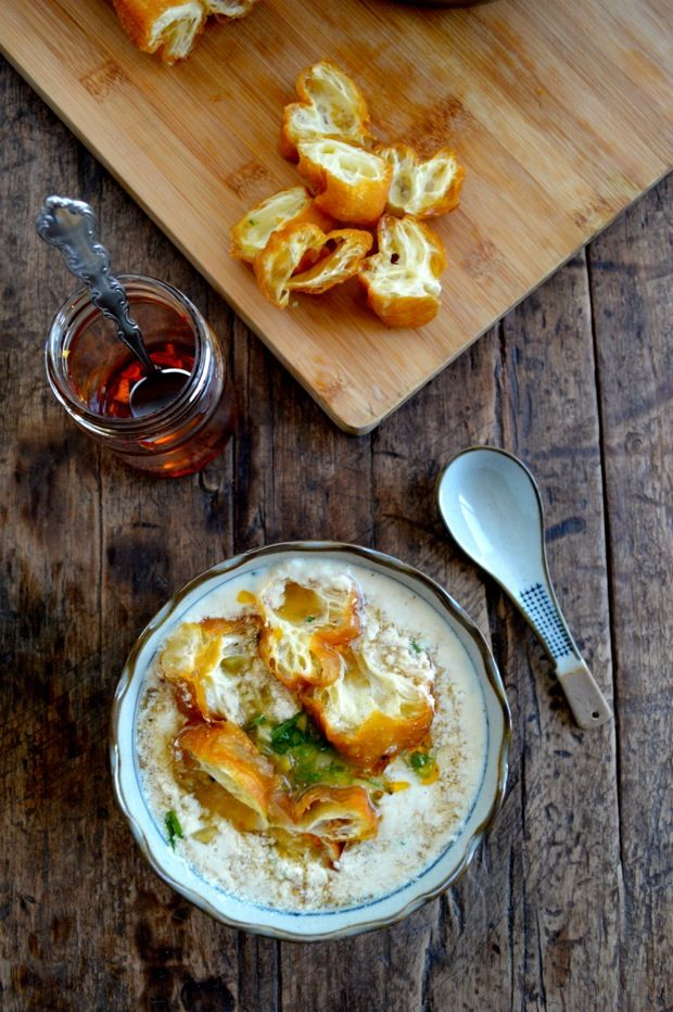 Savory Soy Milk with Fried Dough (豆浆- Dou Jiang), the most enjoyed ...