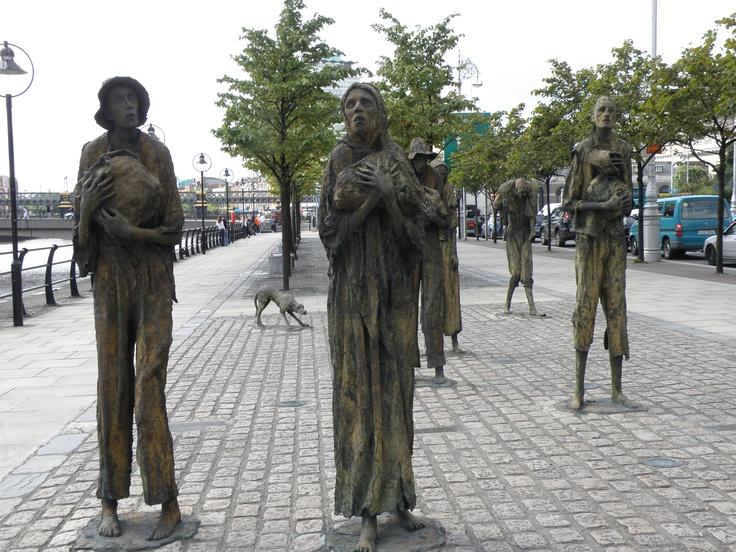 Famine statues Dublin | CELTIC SYMBOLS | Pinterest