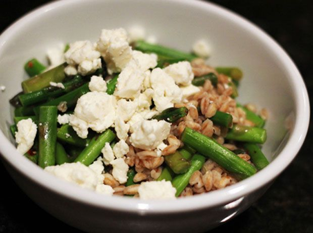 Farro Salad with Asparagus and Feta Recipe - RecipeChart.com