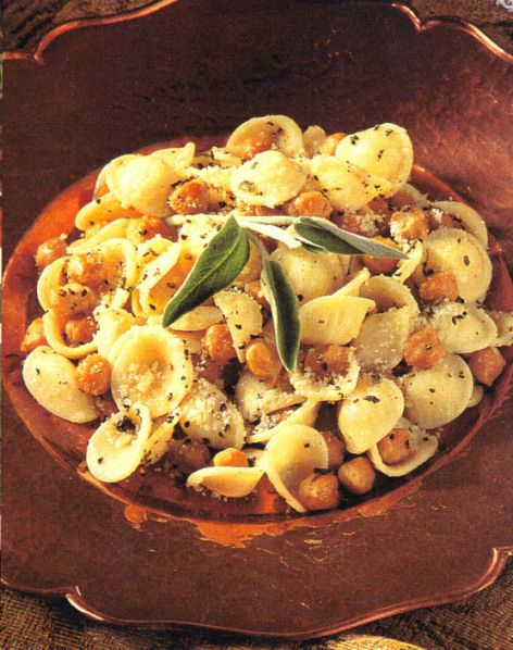 Orecchiette with Fried Chickpeas, Cracked Pepper & Sage | Rozanne Gold