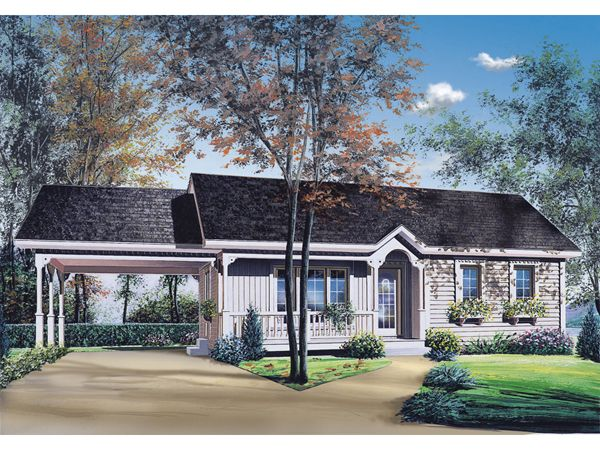house design with attached carport house plans pinterest