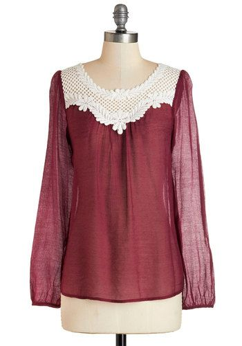 Crochet You Will Top from Modcloth