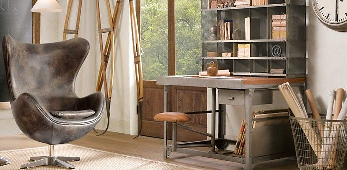 home office restoration hardware office pinterest