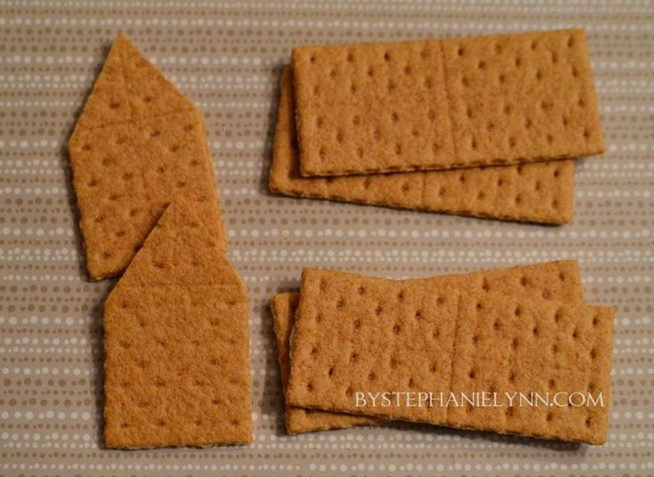 How To Make Glued Graham Cracker Gingerbread Houses Quick