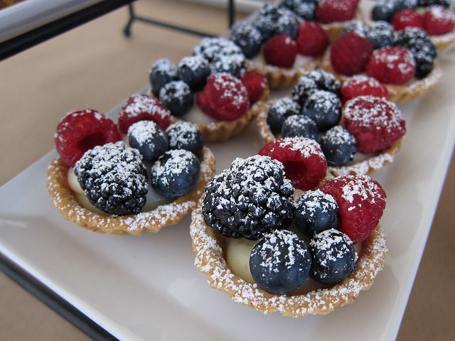 Fruit tarts with lemon lavender cream | Lavender | Pinterest