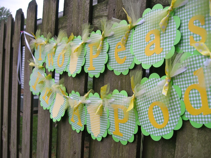 baby shower banner twins two peas in a pod