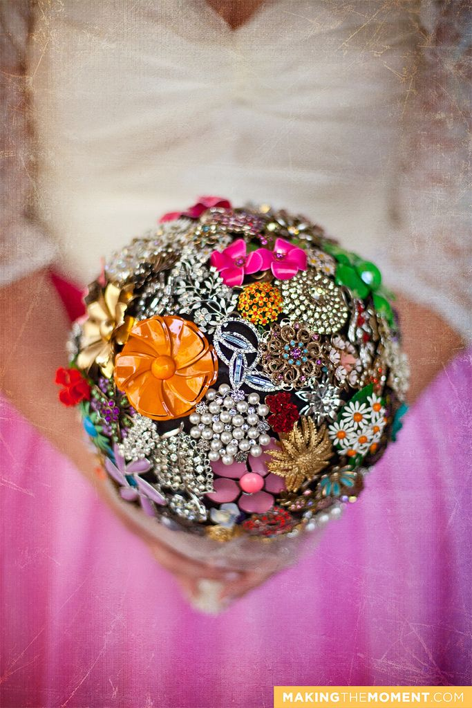 Bouquet Of Vintage Floral Jewelry