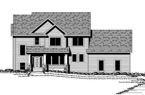 Colonial Traditional House Plan 42069