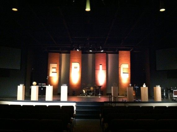 Cheap Church Stage Design Ideas Worship Pinterest