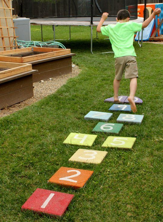 DIY Backyard Hopscotch Board