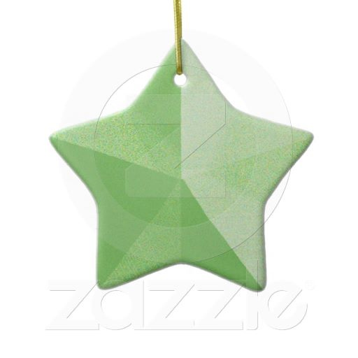 Green Star Christmas Ornament Template