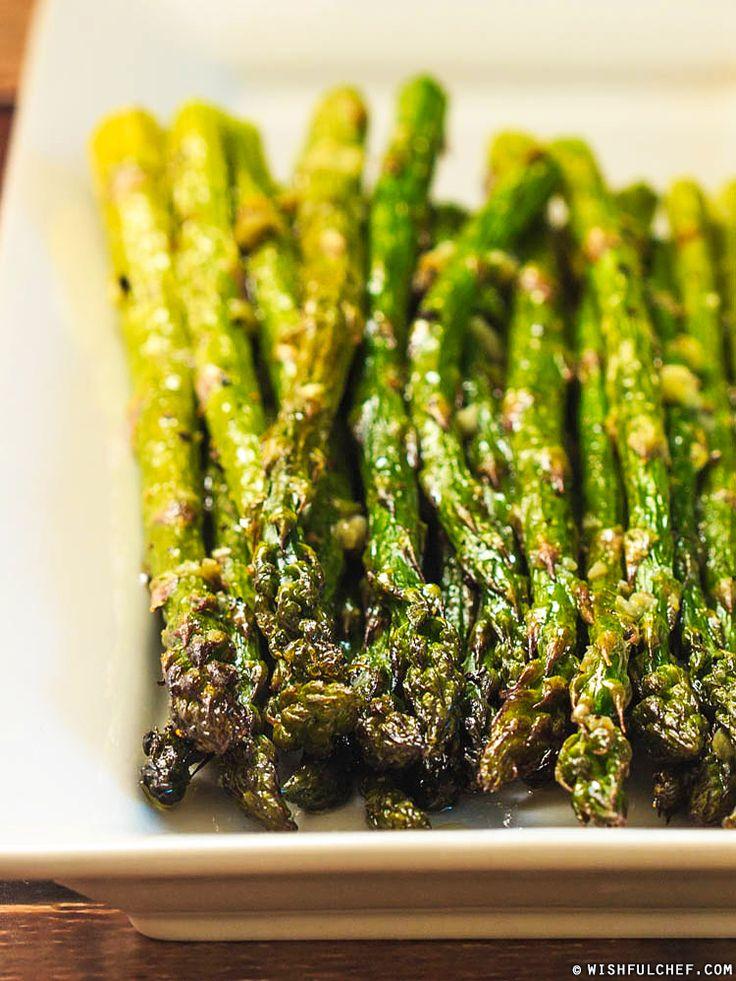 Super Simple Roasted Asparagus with Garlic // wishfulchef.com
