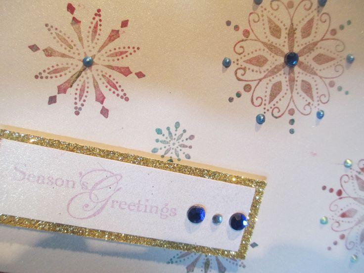 Handmade Snowflake Christmas Card | My Handmade Goodies | Pinterest