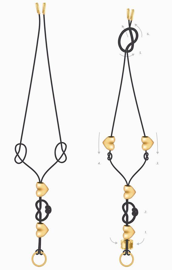 Подвески на веревке своими руками
