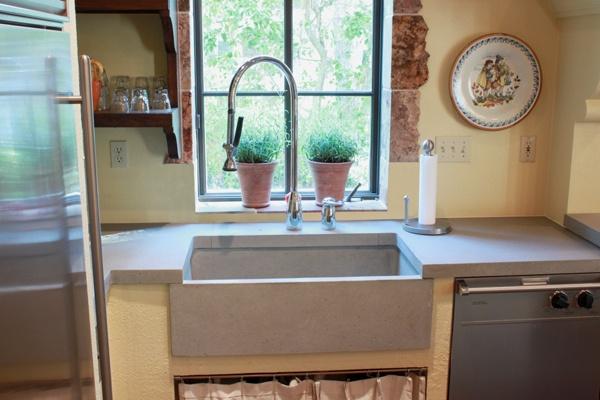 Farmhouse concrete sink kitchen envy pinterest