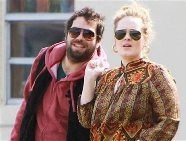 Adele with her boyfriend Simon Konecki | Singers | Pinterest
