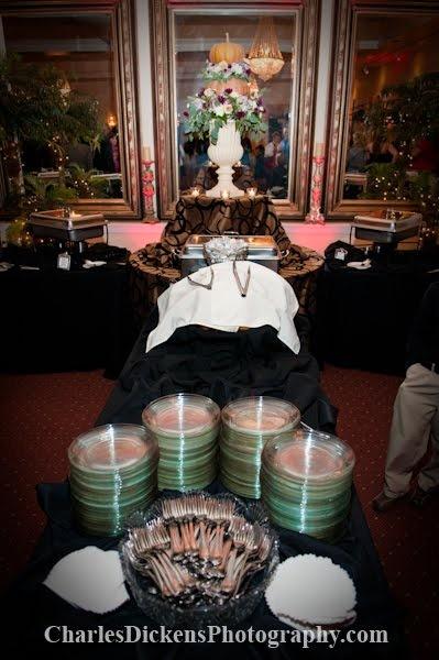 Buffet set up hudson manor estate pinterest
