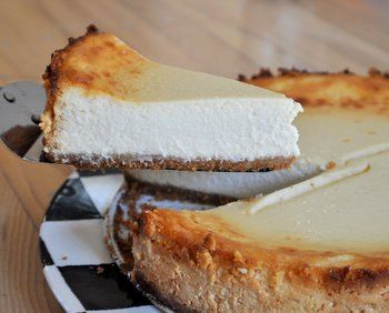 Lighter) Authentic New York Cheesecake | Indulge | Pinterest