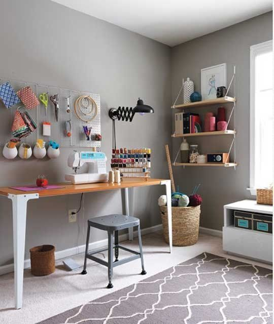 Sewing Craft Room Makeover 540 x 640