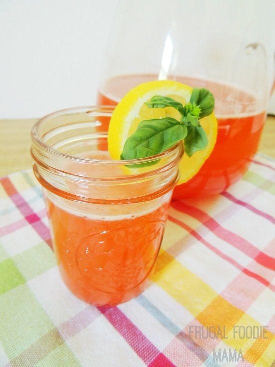 Strawberry Basil Lemonade | Drink | Pinterest