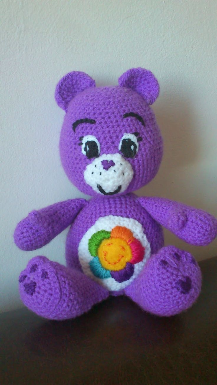 Free care Bears crochet pattern Care Bear Crochet ...