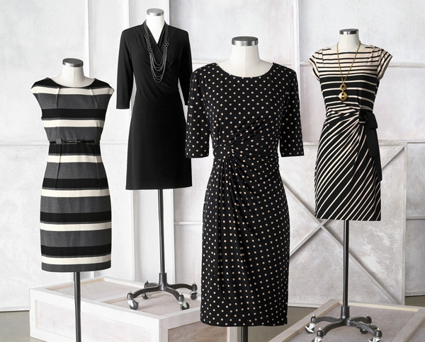 Fall dress collection - Black & White #ColdwaterCreek