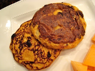Ooey Gooey Dark Chocolate Peanut Butter Banana Pancakes