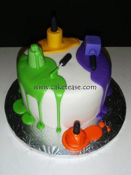 Cake Decorating Nails : Nail Polish Cake What I Love Nails........ Pinterest