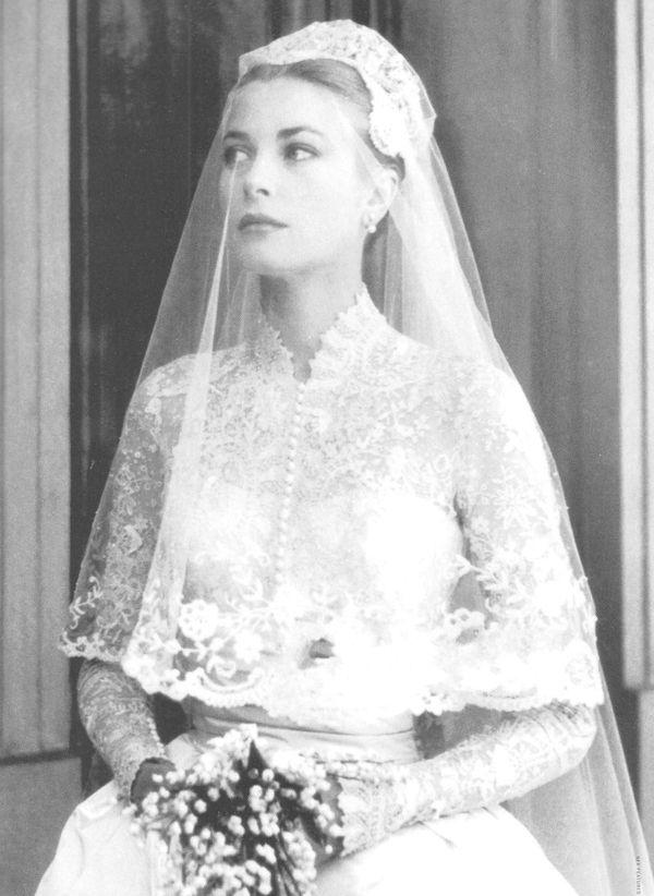 Grace kelly s wedding dress celebrities pinterest