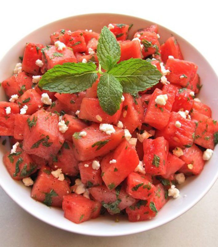 ... and feta salad tomato watermelon salad with feta and toasted almonds