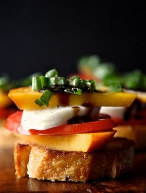 Peach, Tomato, and Mozzarella Crostini - Camille Styles - 10 Best ...