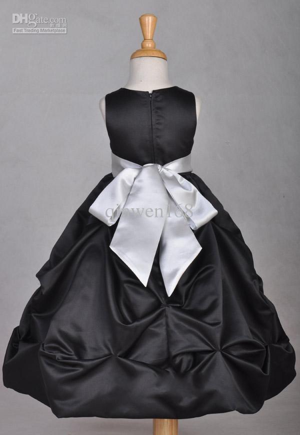 wholesale custom silver flower girl dresses