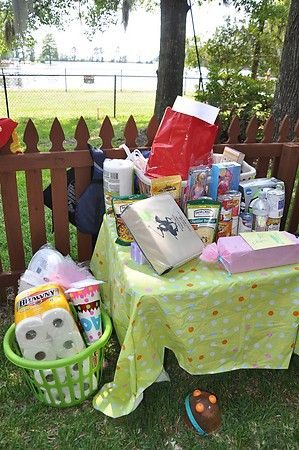 donation birthday party. instead of gifts, bring something