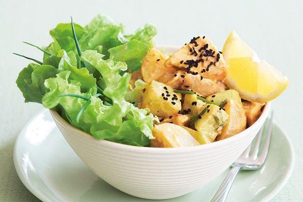 Coronation chicken and potato salad | Dinners | Pinterest