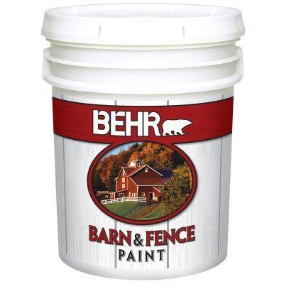 BEHR Paint 5 Gal White Exterior Barn And Fence Paint 3505