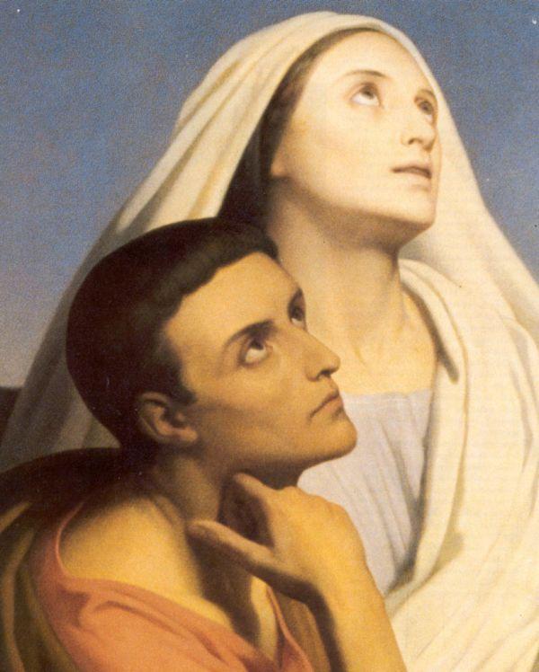 heilige Monica van Thagaste en haar zoon Augustinus ...ik ben trots dat ik haar naam mag dragen