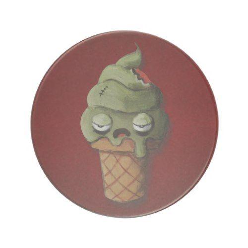 Rotten Zombie Ice Cream Drink Coasters
