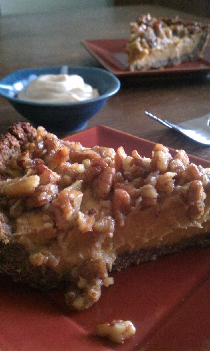 sweet potato pumpkin pie with maple walnut crumble // an unrefined ...