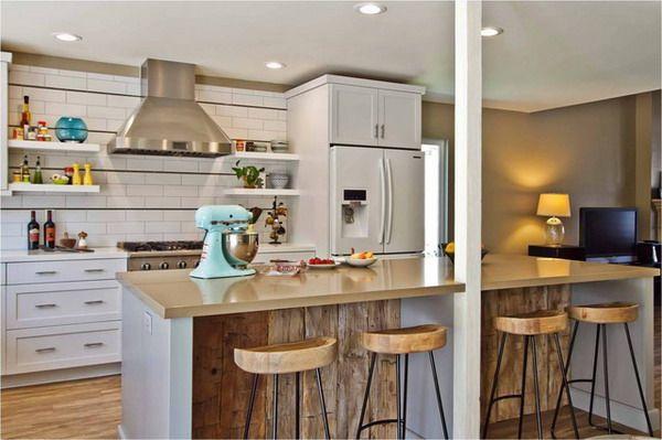 Reclaimed Wood Bar Front Kitchen Ideas Pinterest
