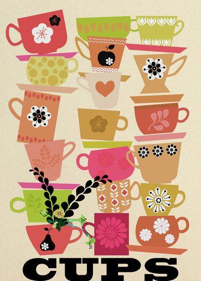 cups! Art Print