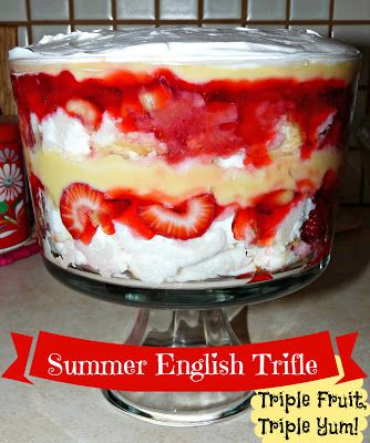 English Trifle From: Zoeslunchbox | Sweet sweet treats! | Pinterest