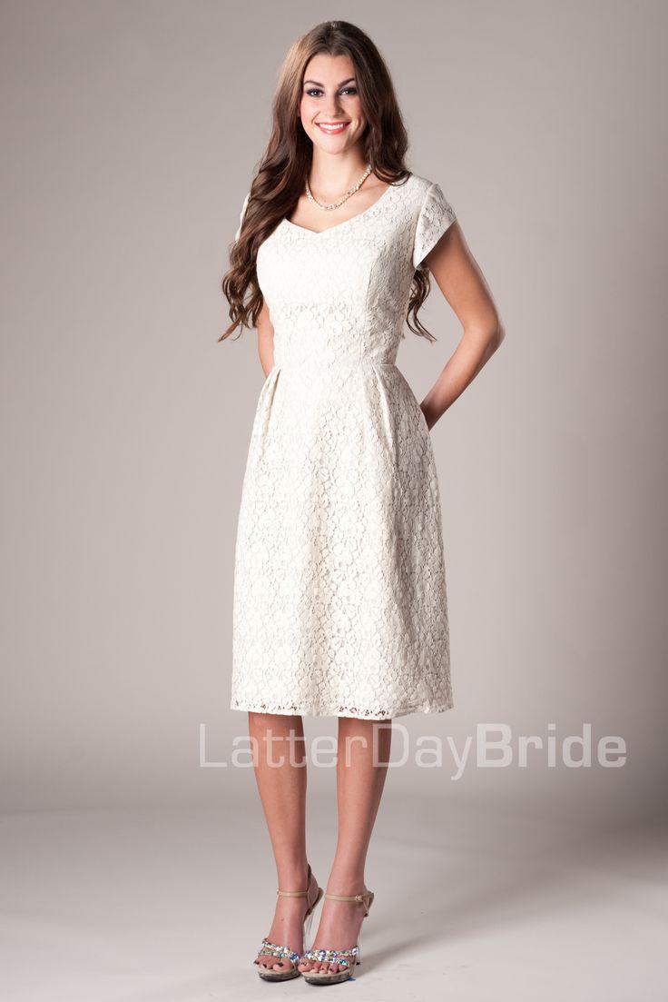 Janice modest mormon lds bridesmaid dress modest for Mormon modest wedding dresses