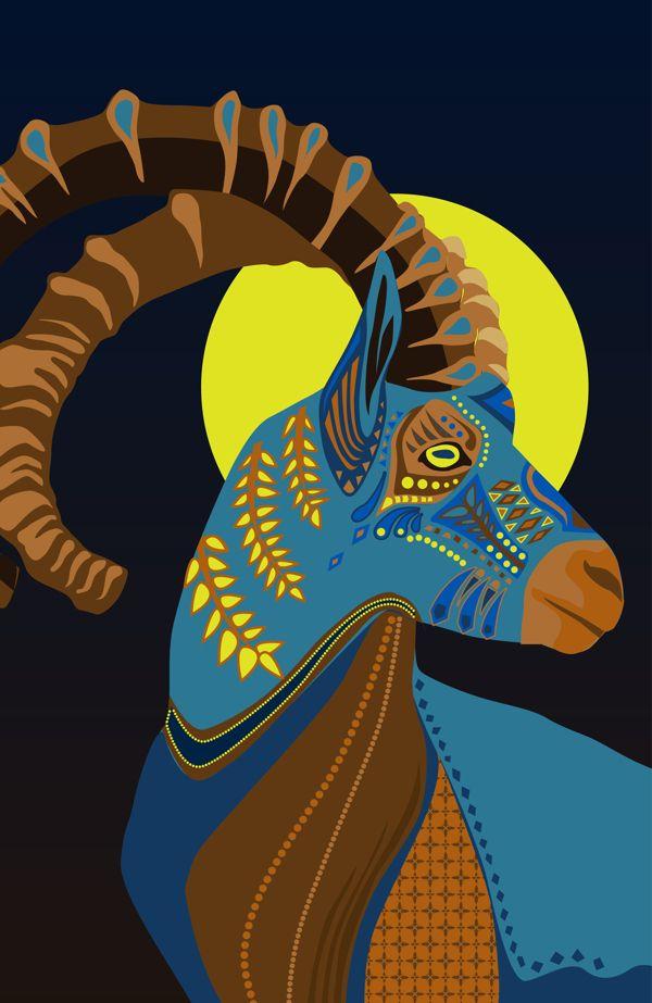 Vivid illustrations blend nature with ornamental patterns my modern