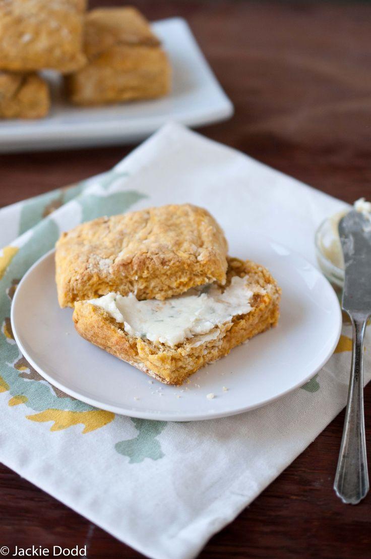 Sweet potato beer biscuit maple sage butter - via The Beeroness