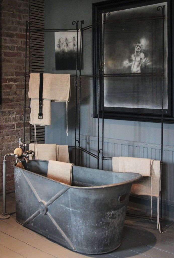 Industrial bath home decor pinterest for Industrial bathroom ideas