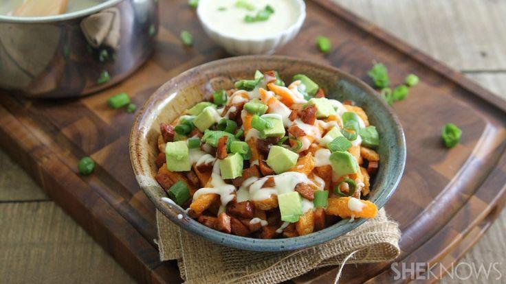 Mexican sweet potato poutine   SheKnows Food   Pinterest