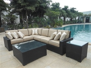 Sons outdoor furniture sonoma sectional sofa group on sale at trees