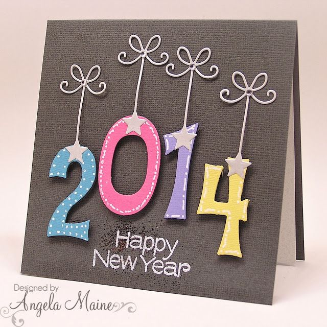 handmade New Year card from the tool shed ... non-traditional look ...
